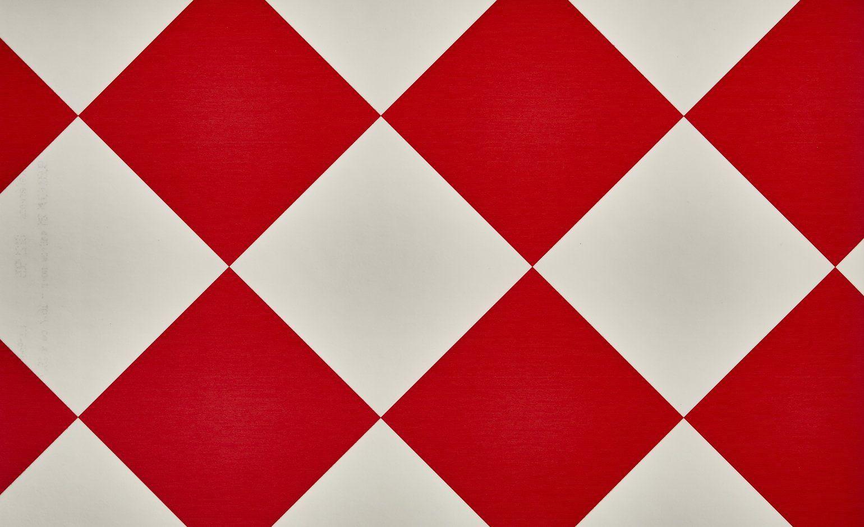 Sol vinyle BUBBLEGUM, carrelage damier rouge et blanc, rouleau 4 m - . - Saint…
