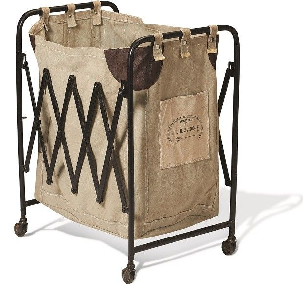 Collapsible Vintage Laundry Cart Collapsible Laundry Hamper