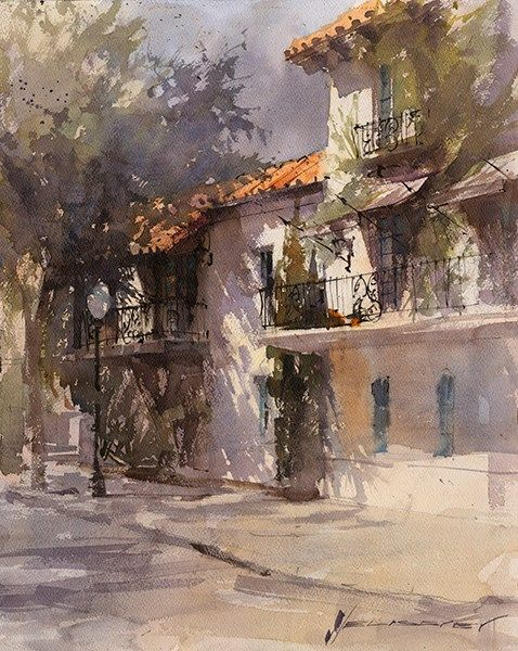 Pin By Mark Rubin On Watercolor Watercolor Architecture