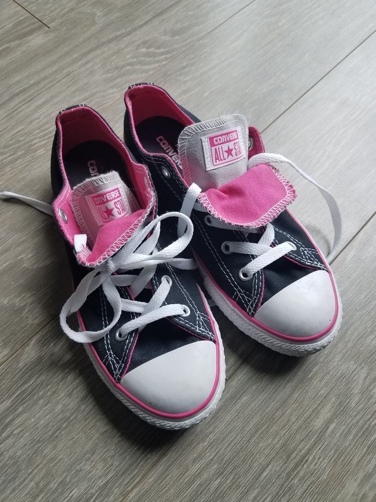 Girls Converse All Stars pink and black SIZE 3  fashion  clothing  shoes   accessories  kidsclothingshoesaccs  girlsshoes (ebay link) 51d789a71