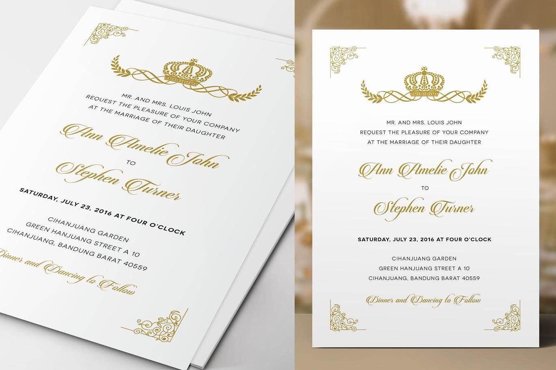 Royal Wedding Invitation Template Lovely Royal Wedding Invitation Template Ps In 2020 Royal Wedding Invitation Wedding Invitation Cards Traditional Wedding Invitations