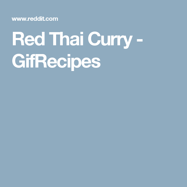 Red Thai Curry - GifRecipes