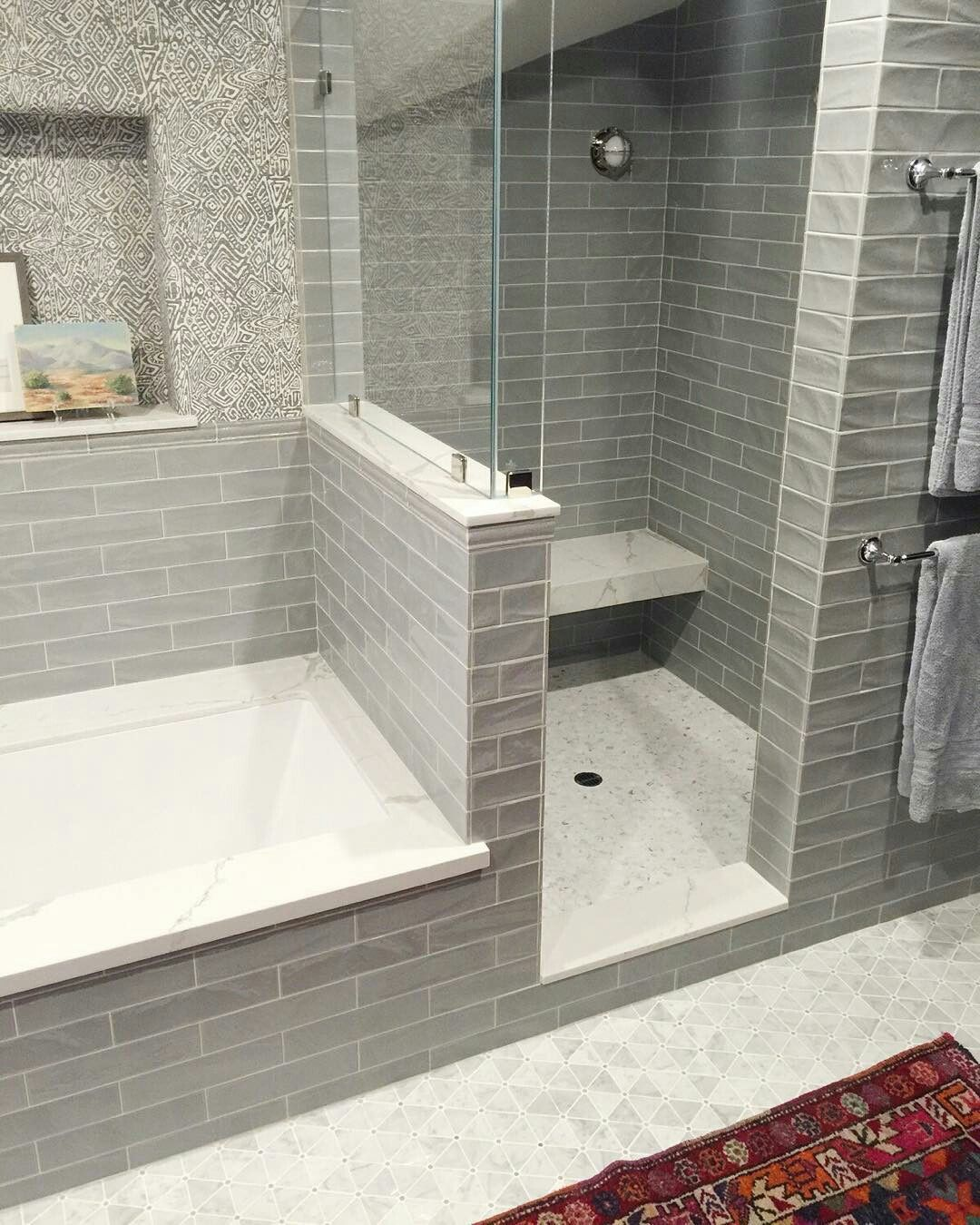 65 Most Popular Small Bathroom Remodel Ideas On A Budget In 2018 This Beautiful Look Was Created Wi Bathroom Remodel Shower Bathroom Tub Shower Modern Bathroom