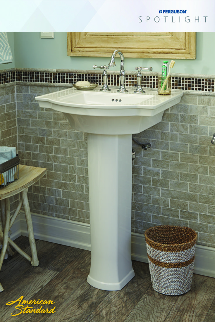 The New Amstandard Estate Pedestal Sink Features A Right Height