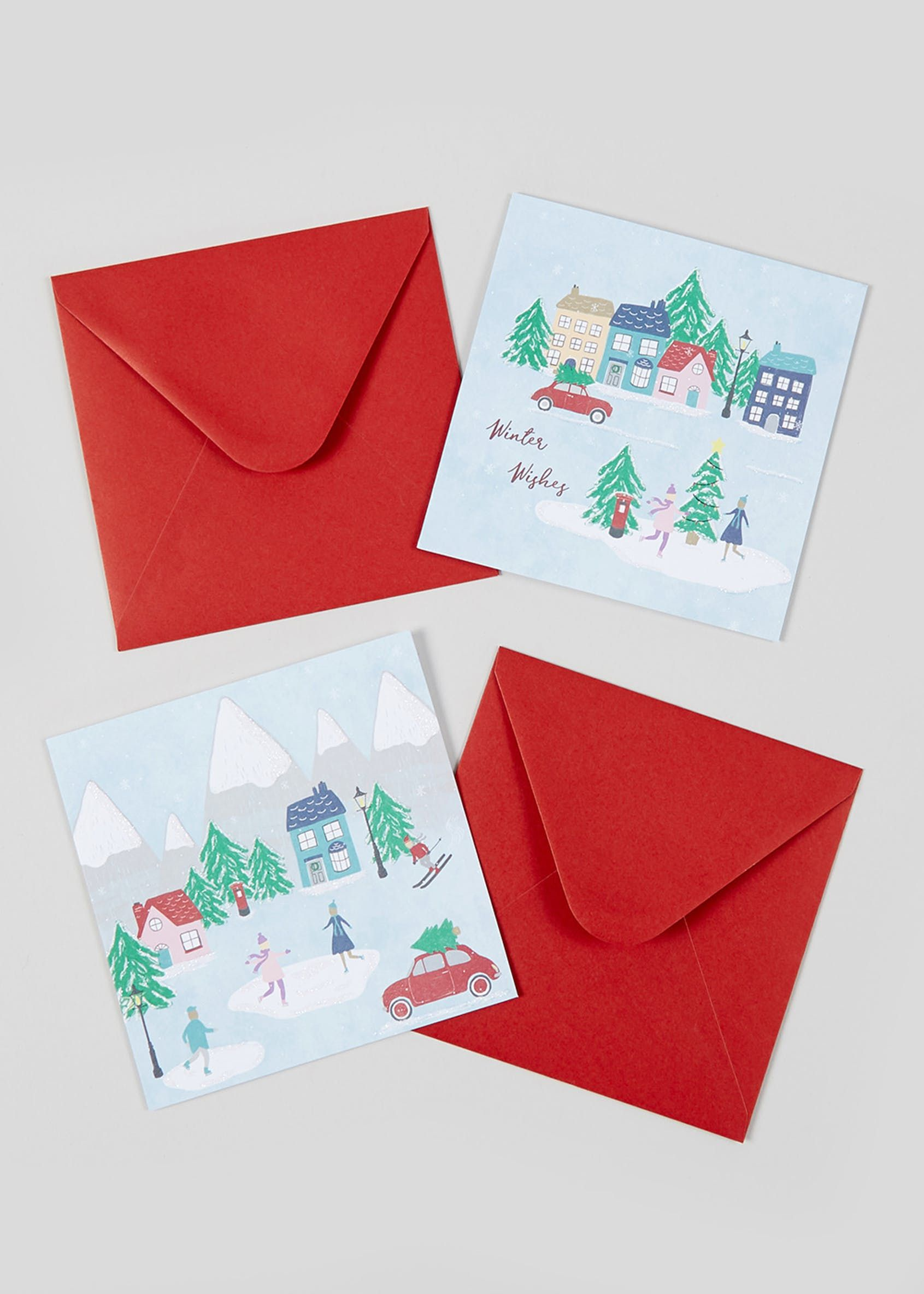 16 pack christmas cards  multi  christmas cards