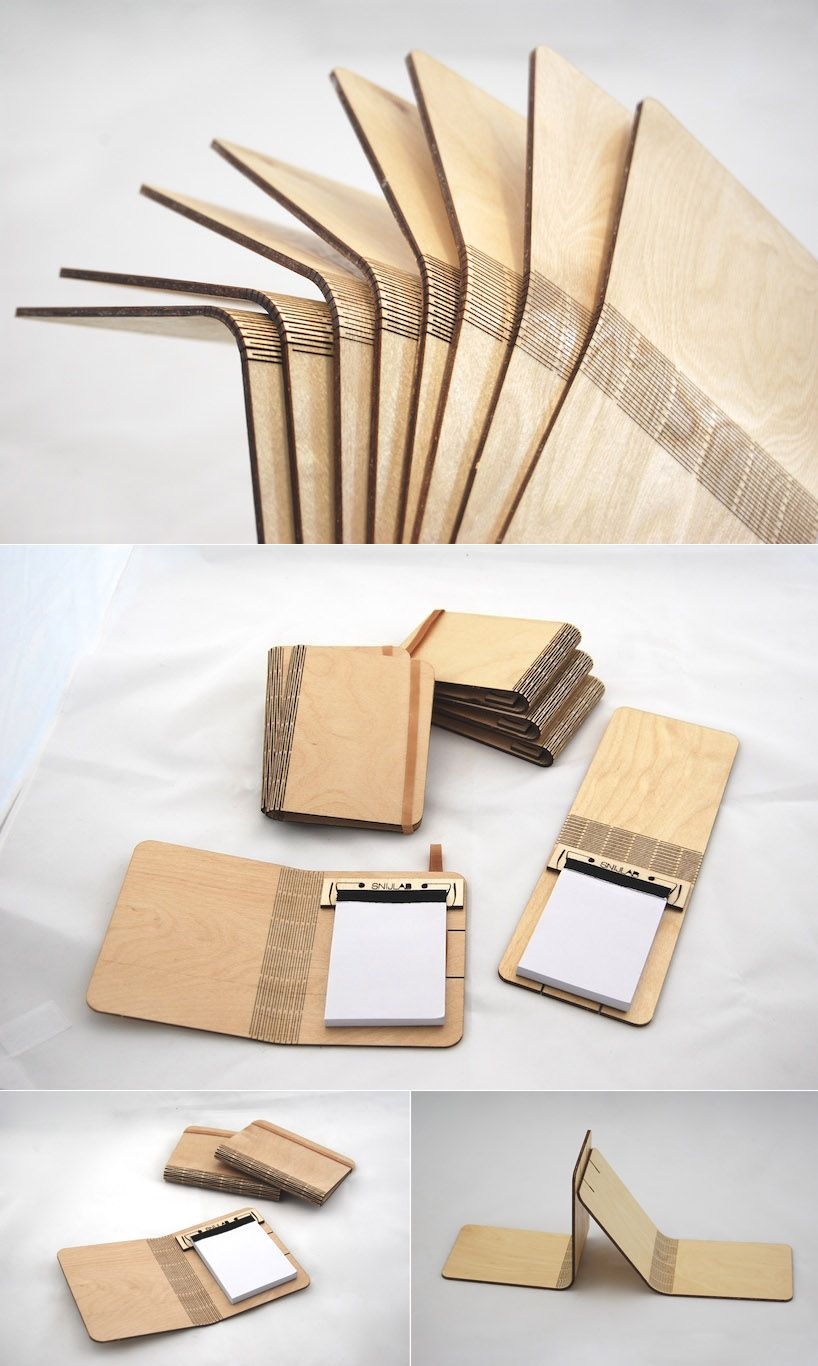 Bendable wood from Dutch company Snijab. Using a laser cutter they ...