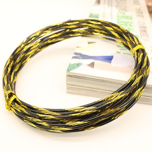 12 Gauge Twisted Diamond Cut Aluminum Craft Wire Jewelry Wrapping ...