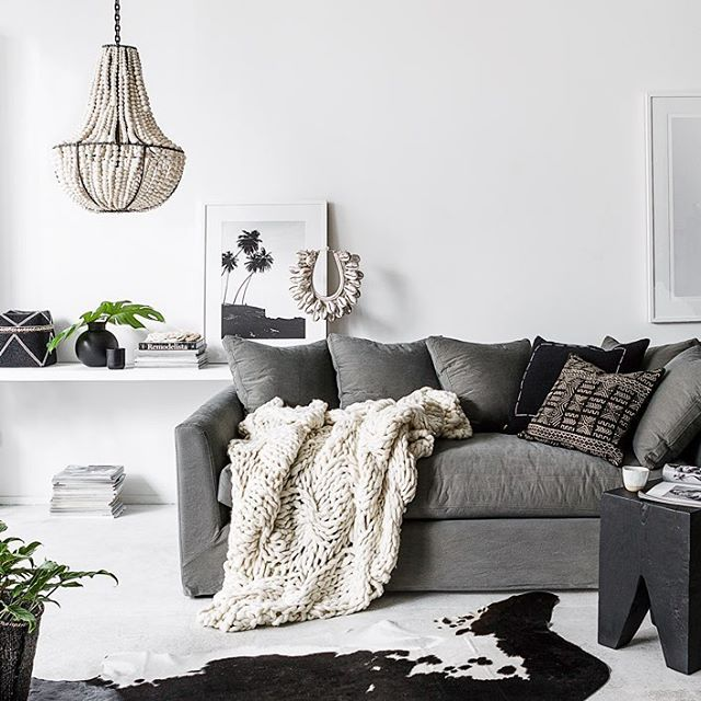 Weekend relaxing ....... @indiehomecollective Beautiful  chunky knit  throws available in both our stores and online now. #indieliving #klaylife #indiehomecollective