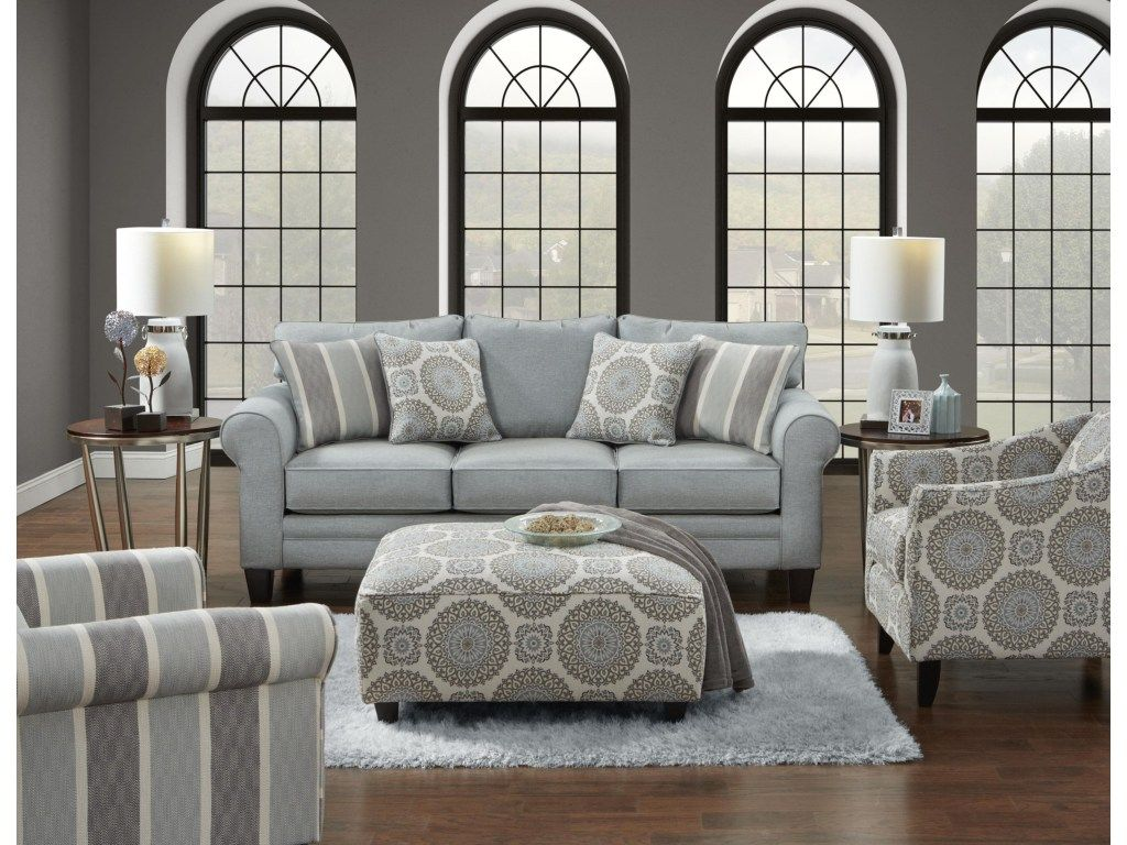 Best Fusion Furniture 1140 Grande Mist Sofa Great American 400 x 300