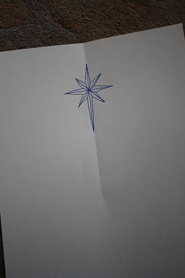 Christmas star drawing