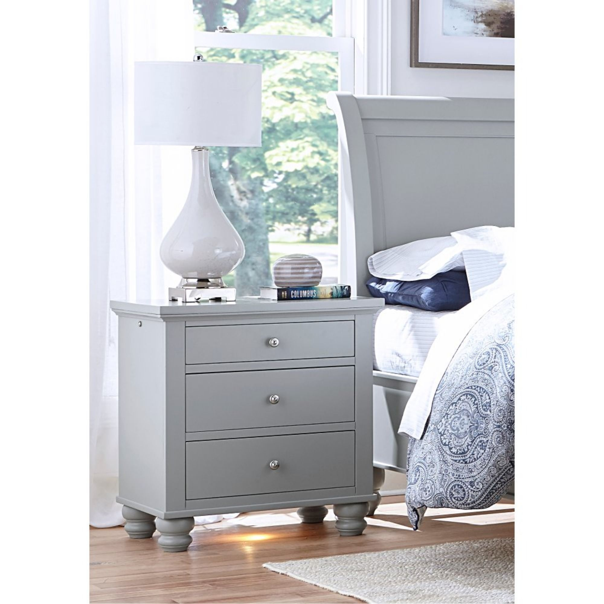 Classic Traditional Gray Nightstand Cambridge in 2020