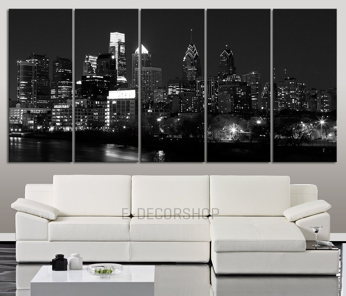Large Canvas Art Wall Art Canvas Print Philadelphia Skyline By Night Philadelphia City View Large Canvas Wall Art Canvas Art Prints Wall Art Canvas Prints