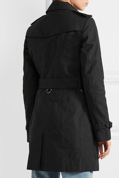Burberry - The Sandringham Mid Cotton-gabardine Trench Coat - Black - UK16