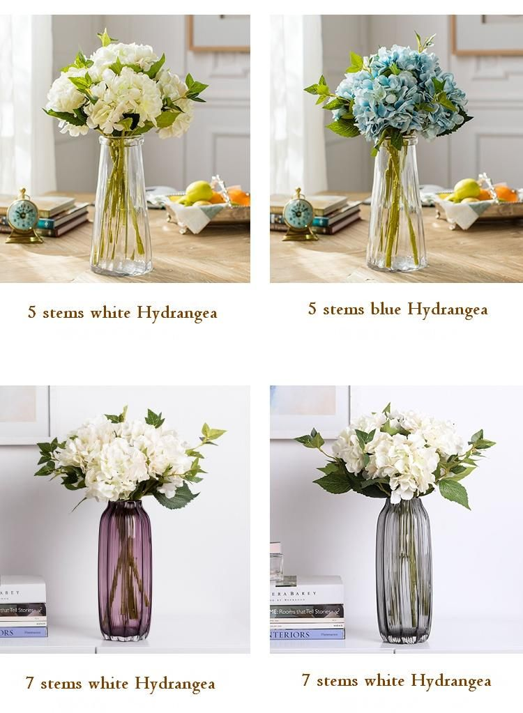 5 colors hydrangea faux flower real touch flowers