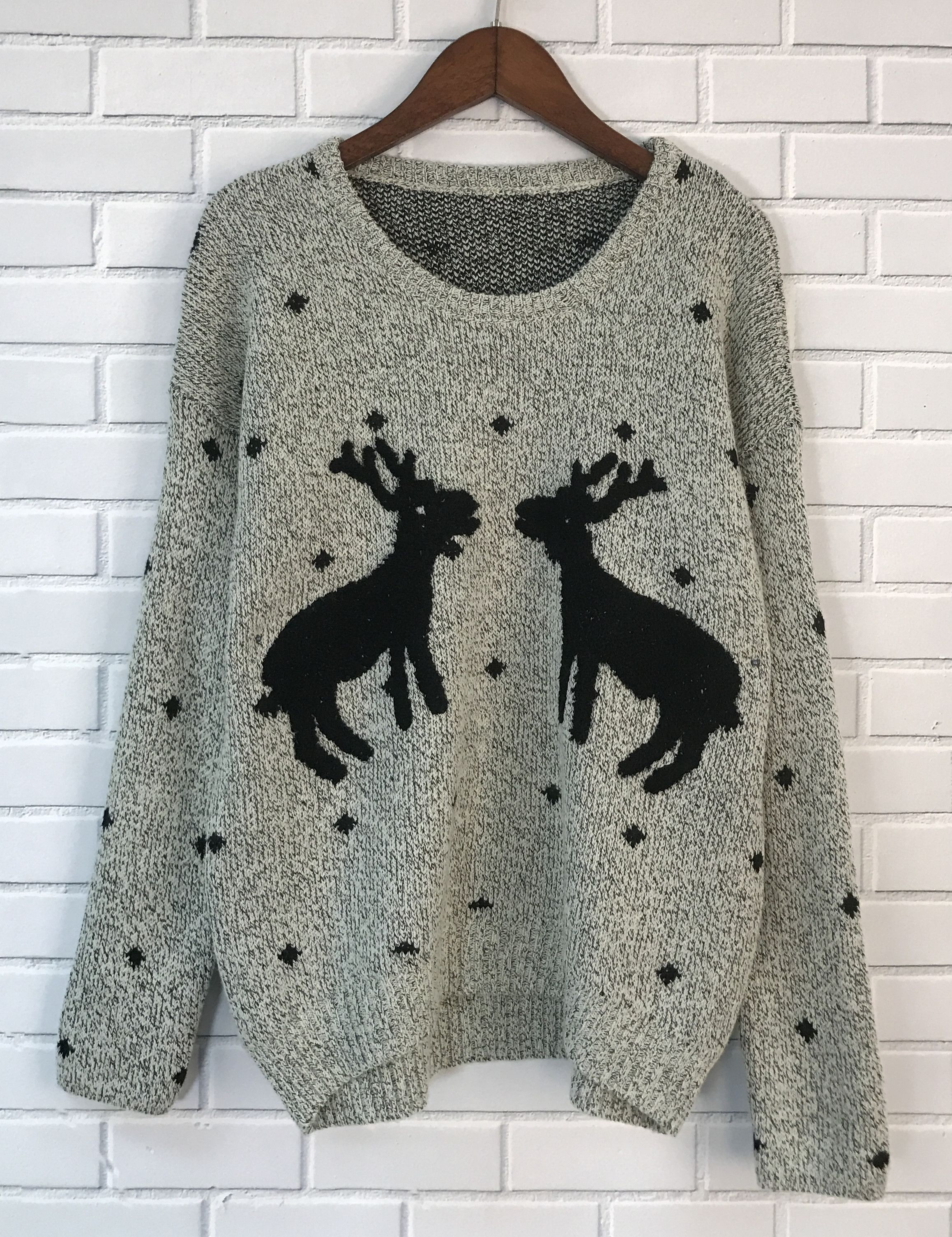 Reindeer Graphic Knit Sweater Keep You Warm In Chill