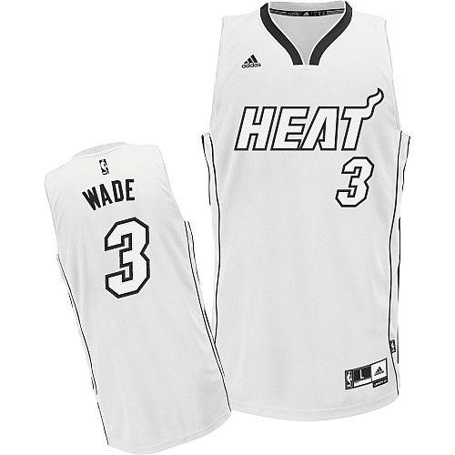 Adidas NBA Miami Heat 3 Dwyane Wade White Fashion Swingman Jersey ... e5c8bca65