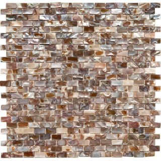Somertile 11 75x11 75 Inch Seashell Subway Perla Natural Seashell Mosaic Wall Tile 10 Tiles 9 6 Sqft Mosaic Wall Tiles Mosaic Tiles Merola Tile