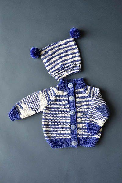 Craft Passions: Rah Rah Baby Cardigan# free # knitting pattern li ...