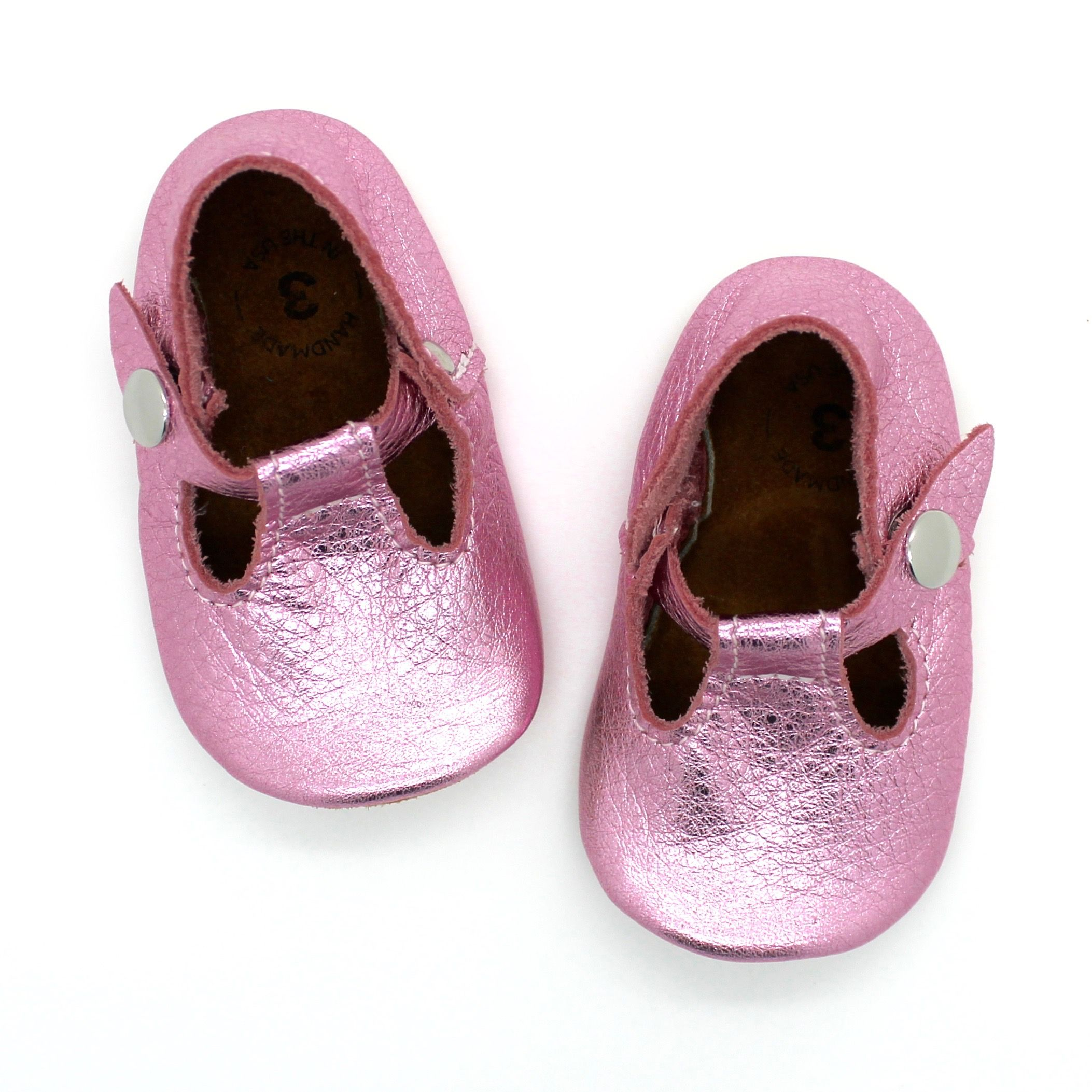 the original soft soled t strap pixie pink kids style
