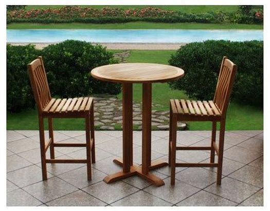 Outdoor Tall Bistro Sets Whereibuyit Com Teak Patio Furniture Outdoor Dining Set Patio