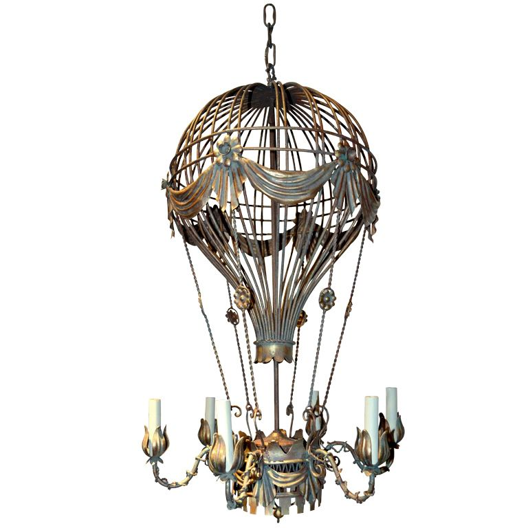 Hot Air Balloon Chandelier From A Unique Collection Of Antique And Modern Chandeliers Pendants