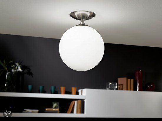 Eglo Plafoniere Led : Eglo rondo plafondlamp lichts Ø mm nikkel mat wit
