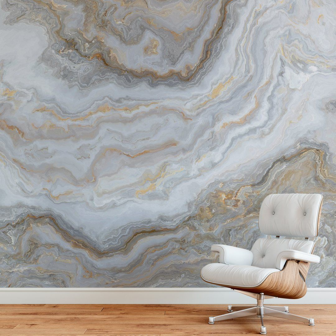 White Marble Stone Granite Slate Peel And Stick Wallpaper Removable Wall Mural 6180 Removable Wall Murals Slate Wall Wall Murals
