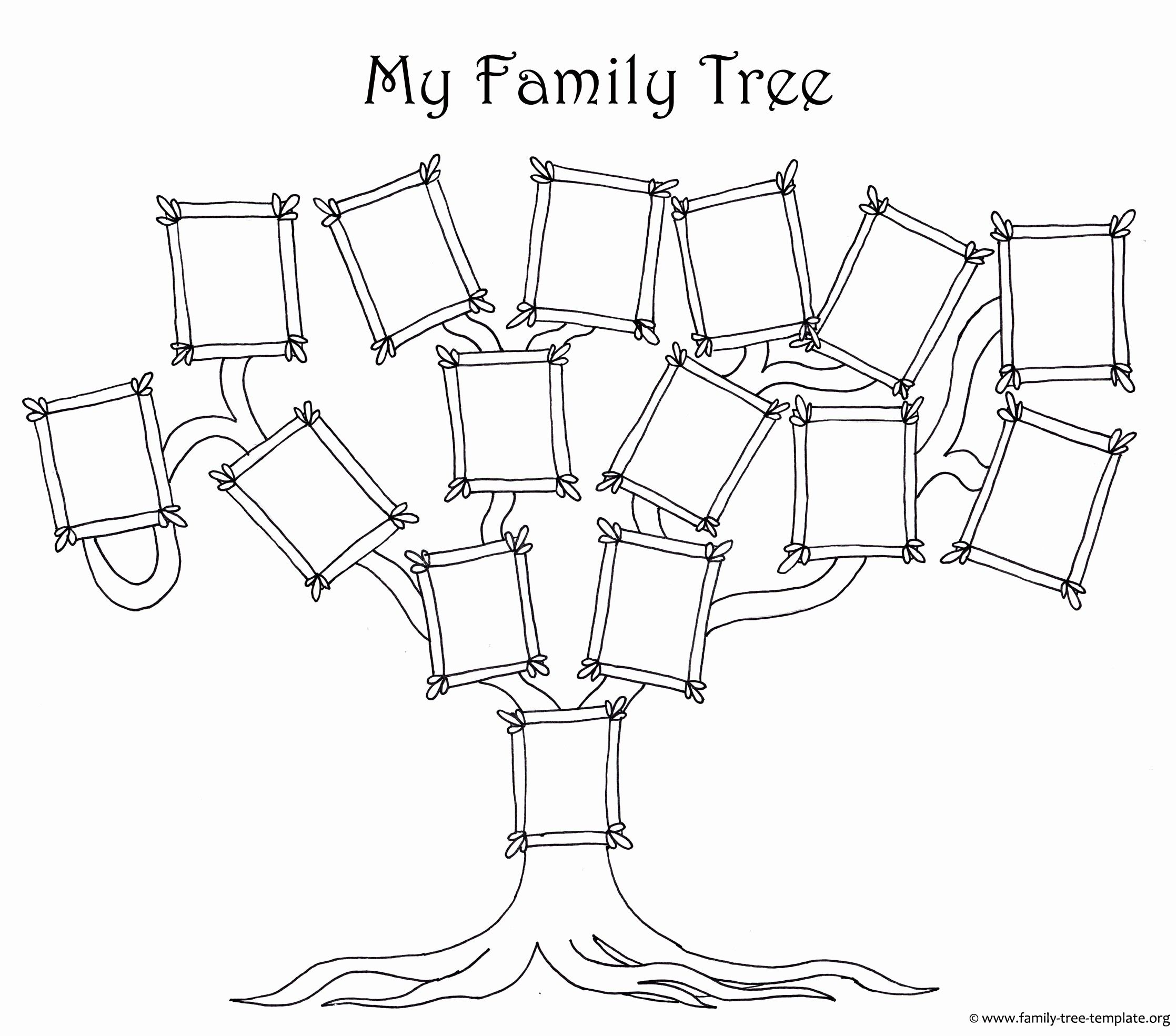Unique Family Tree Template Printable Exceltemplate Xls