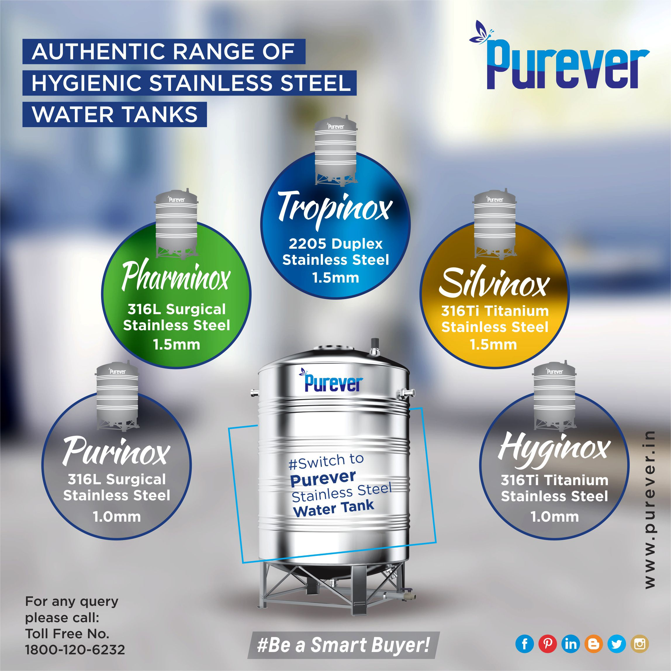 Purever Every Single Water Tank Defines The Words Purity Safety Durability 1800 120 6232 Purever Stainlesssteel Steel Water Tanks Water Tank Steel Water