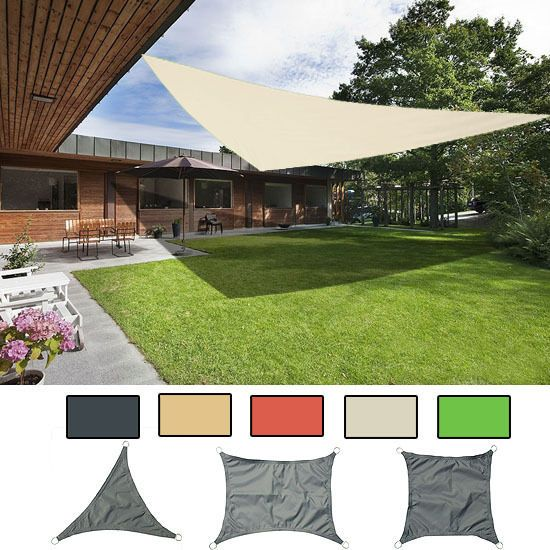 Sun Shade Sail Garden Patio Awning Canopy Sunscreen 98% UV Block NEW In  Garden U0026