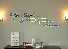 Flip Flop State Of Mind Wall Decal