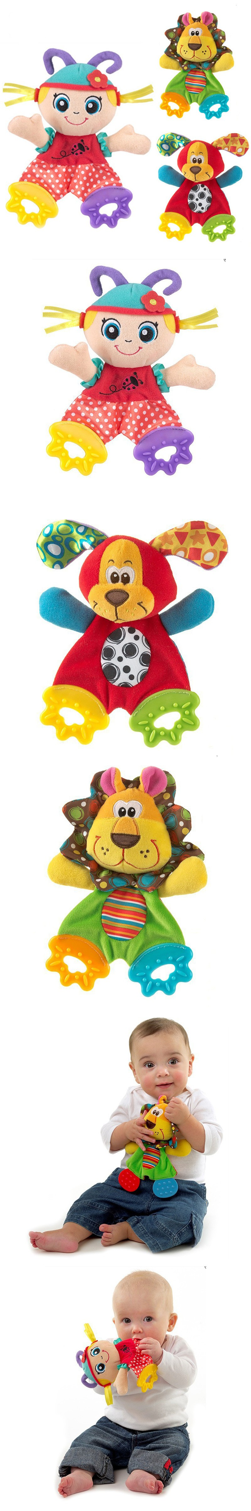 Baby toys images cartoon  Cartoon Animals Girl Baby Teethers Ring Paper Appease Baby Toys Baby