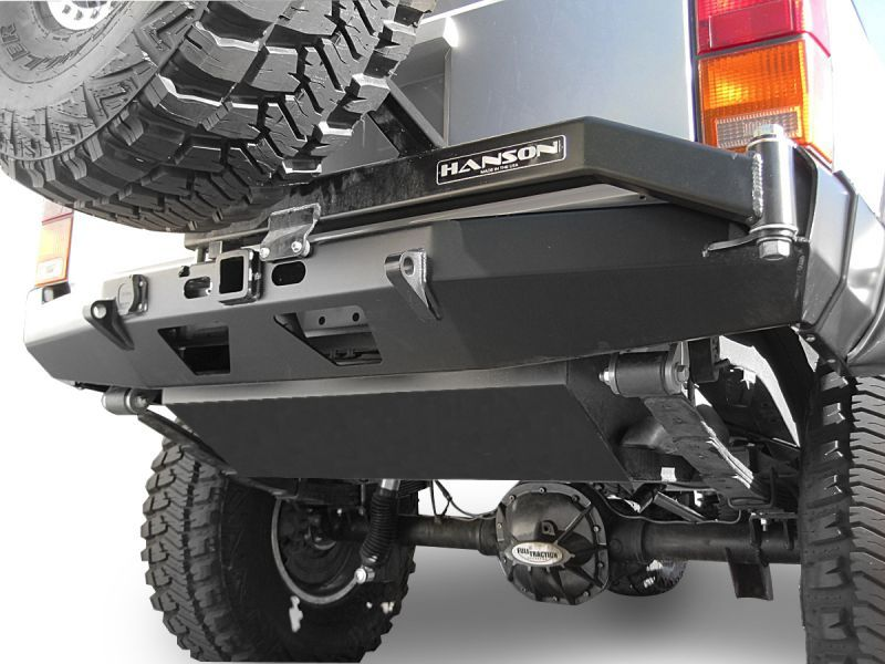 Hanson Offroad Rear Bumper Tire Carrier Combo For 84 01 Jeep