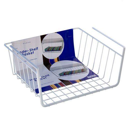 Organized Living Under Cabinet Basket, White