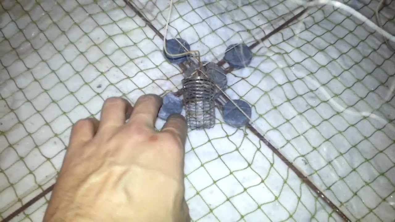 Самодельный зимний паук для рыбалки