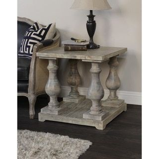 Parvin Hand Crafted Wood Side Table By Kosas Home By Kosas Home