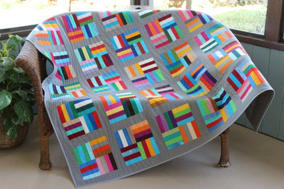 Divano Letto Patchwork : Modern multi color gray handmade patchwork generous throw square