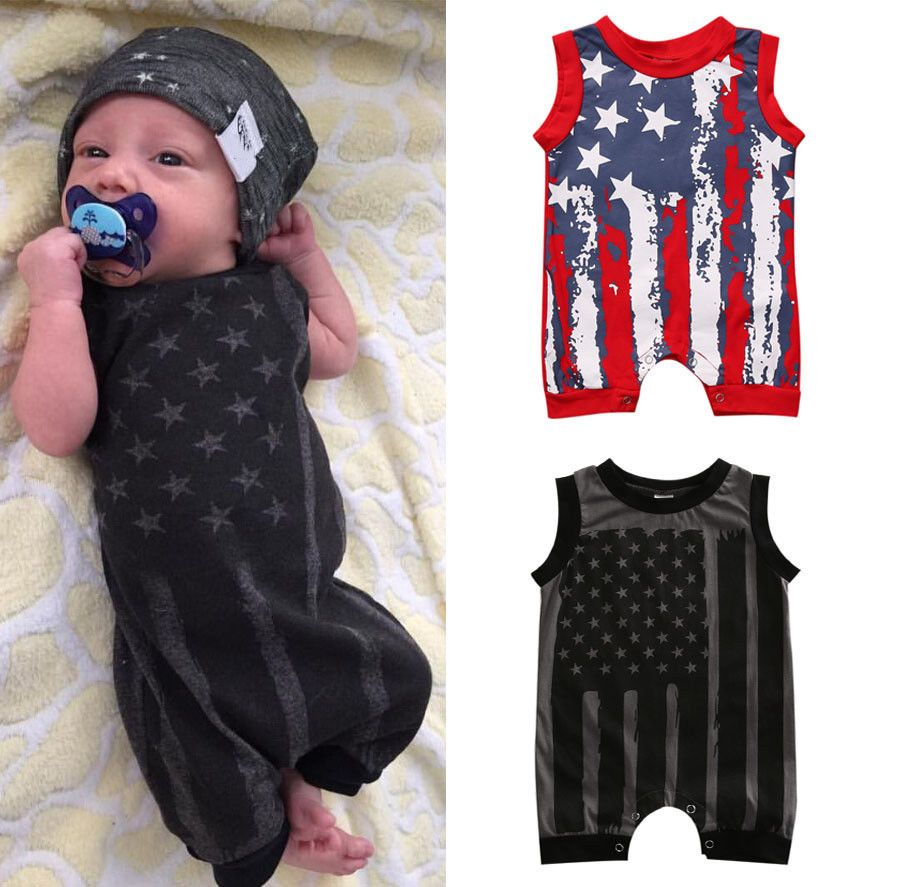 Newborn Infant Baby Boy Girl Romper Bodysuit Jumpsuit Summer Clothes Outfits