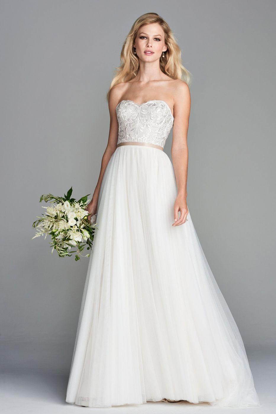 WTOO 10707 Yvaine Strapless A-line Bridal Dress
