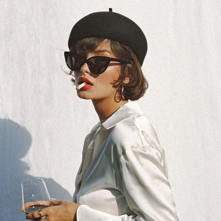 Get Short Hair Without A Haircut French Beret Cat Eye
