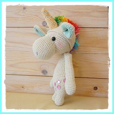 Ms Tschi-Tschi: Unicorn crochet - Amigurumi Instructions free shared at katherines corner