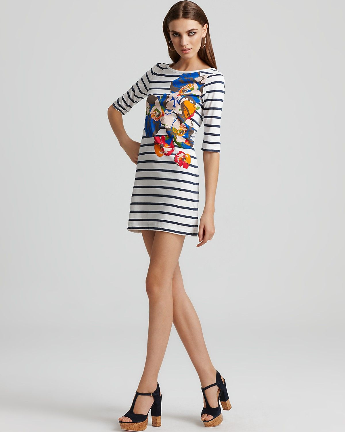 French Connection Stripe T Shirt Dress My Style