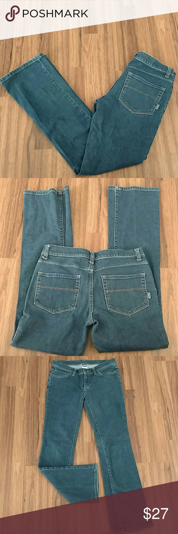 """Patagonia Organic Cotton Stretch Jeans Sz 28 Patagonia Organic Cotton Stretch Jeans Sz 28. Medium wash. Inseam is 31"""". Preowned good condition. Patagonia Jeans"""