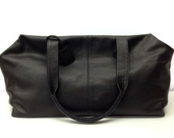 Leather duffle travel bag - extra large leather carry all - mens ...