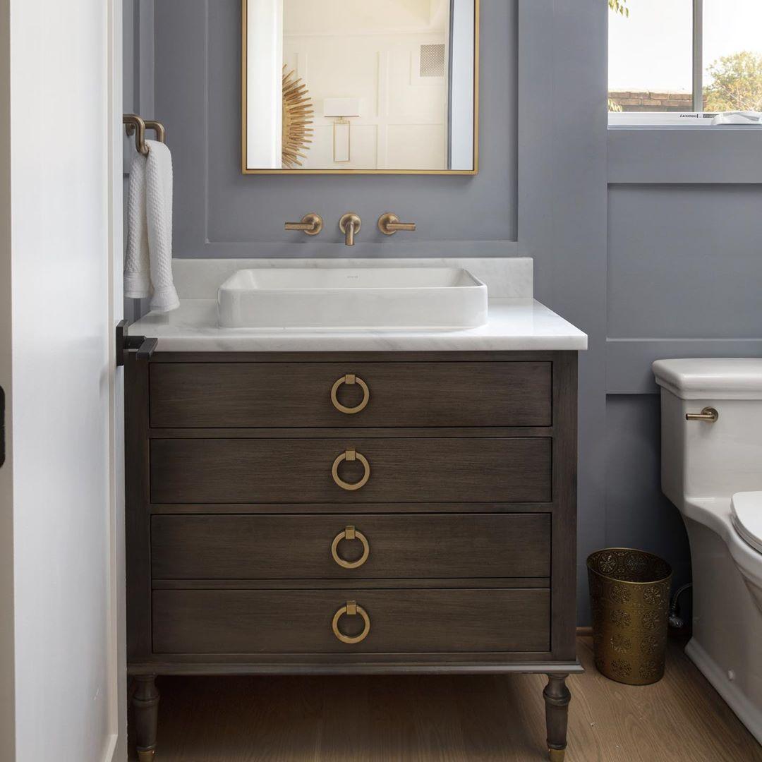 A Well Dressed Home Designer On Instagram Moody Powder Bath