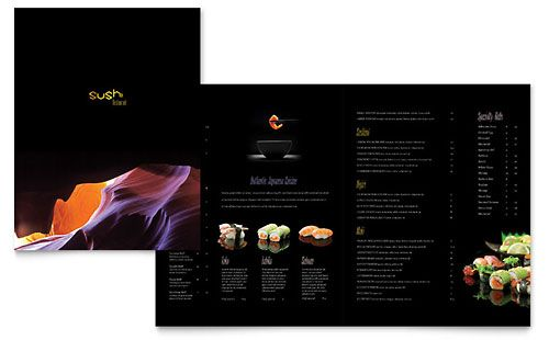 Sushi Restaurant Menu Template By Stocklayouts  Graphic Design