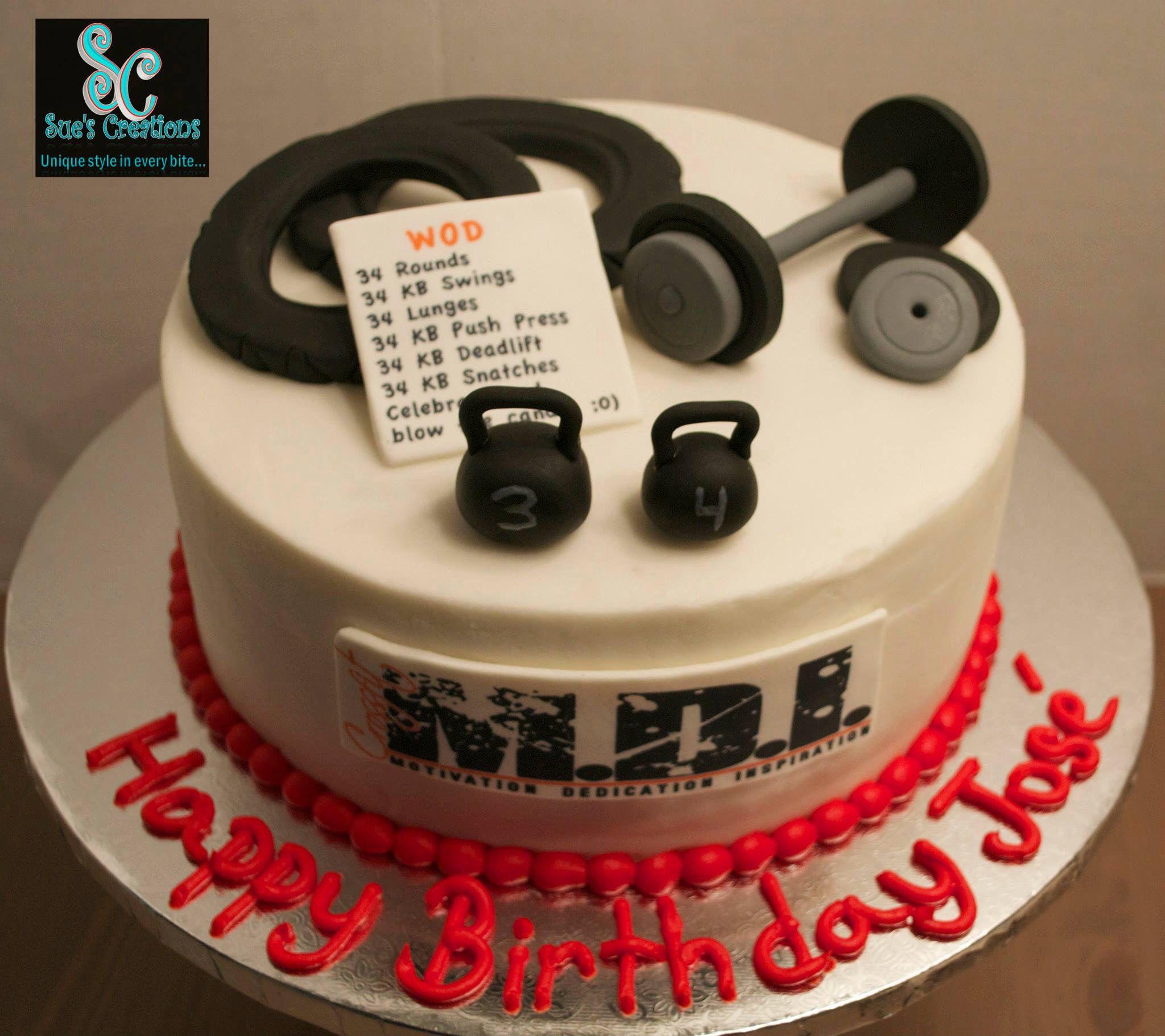 Crossfit Theme Birthday Cake Custom Made Cakes Gym
