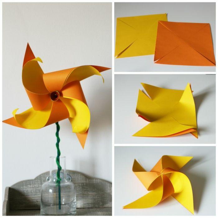 1001 Modeles Originaux De Moulin A Vent En Papier Activites Simples Pour Enfants Moulin A Vent Creations Enfant