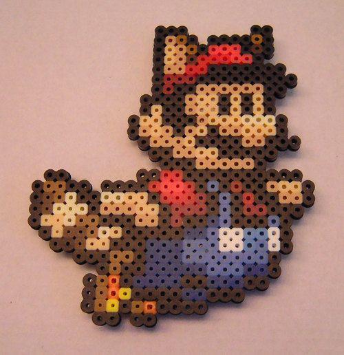 Handmade Raccoon Mario In Perler Beads In 2021 Perler Bead Art Perler Bead Mario Perler Beads