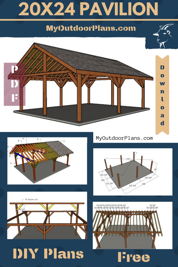 Floors Of The Pavilion Outdoors 20x24 In 2020 Outdoor Pavilion Backyard Pavilion Pavilion Plans